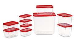 All Time Plastics Polka Container Set 10Pieces Red