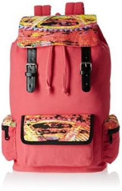 Kanvas Katha 10 Ltrs Peach Casual Backpack FRITZI013PH