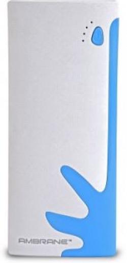 Ambrane P1122  White  Blue 10000 mAh Power Bank
