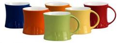 Claycraft Diamond Coffee Mug 350ml57cm 6Pieces Multicolour
