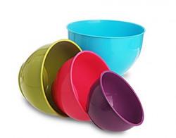 All Time Plastics Classic Mixing Bowl Set 4Pieces Multicolour