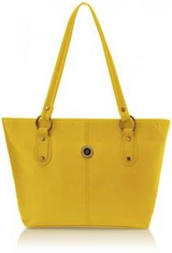 Fostelo Womens Handbag Yellow FSB328