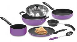 Crystal Nonstick Cookware Set 7 Pcs  purple