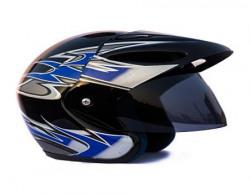 Autofy O2 Full Close Helmet (Black and Blue, M)
