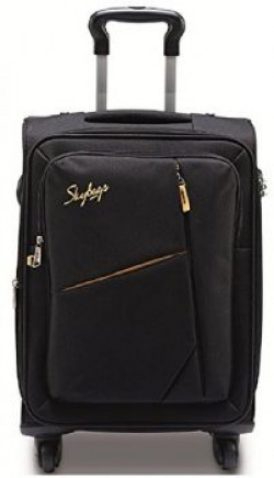 Skybags Polyester 68 cms Black Soft Sided Suitcase STSPOW68BLK