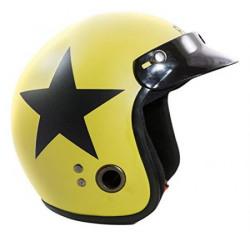 Autofy Habsolite Ecco Star Front Open Helmet Desert Storm and Black M