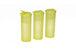 All Time Plastics Freeze Bottle Set 1 Litre Set of 3 Green