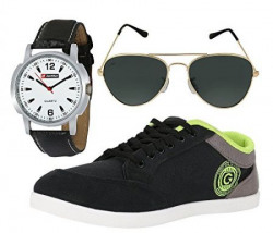 Globalite Combo Mens Casual Shoes GSC0337AMZ with Lotto Watch amp Sunglass