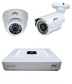 Godrej Seethru Quadra Hd Home Surveillance Kit 720p Hybrid Dvr free Installation