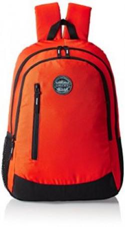 GEAR Orange and Black Casual Eco Backpack 4 BKPECOBP40601