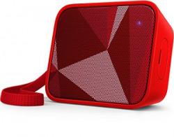 Philips BT110R00 SplashProof Wireless Portable Bluetooth Speaker Red