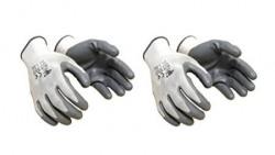 Klaxon Nylon Safety Hand Gloves White Set of 4