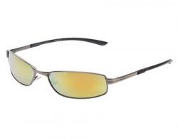Vast UV Protected Rectangle Unisex Sunglasses 18575AntiqueSilver52GoldMirror