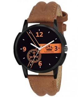 LimeStone MackXSport Round Casual Analog Brown Strap amp Black Dial Mens  Boys Wrist Watch  LS2633