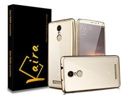 Kaira Electroplated Edge TPU Flexible Back Case Cover for Xiaomi Redmi Note 3  Gold