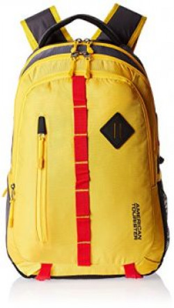 American Tourister Yellow Laptop Backpack ZAP 2016