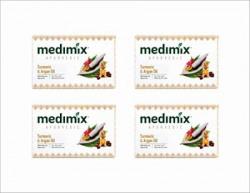 Medimix Oil Bathing Soap Turmeric and Argan 125g  Pk of 4