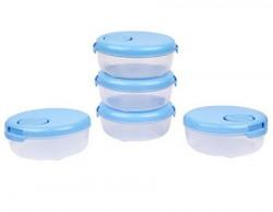 Laplast Plastic Storage Container 600 ml Pack Of 5 Blue