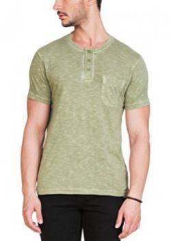 Zovi Cotton Drab Olive Henley Garment Dyed Henley12045703101XLarge