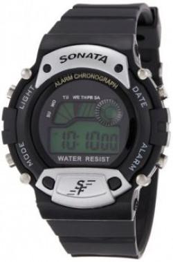 Sonata Digital Grey Dial Mens Watch  NG7982PP02J