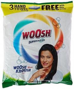 Woosh Super Detergent Powder  2 kg with Free Hand Towel  2 Pieces