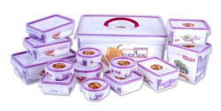 Princeware Plastic Click N Seal Packaging Container Set of 14