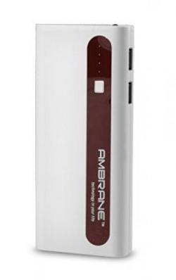 Ambrane 13000 Mah Power Bank P1310 White amp Brown