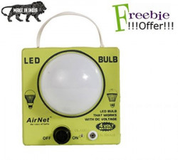 AirNet LED Rechargeable Emergency Bulb with Free AirNet SlimPin Charger