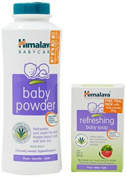 Himalaya Baby Powder 200g with Free Refreshing Baby Soap 75g Worth 35