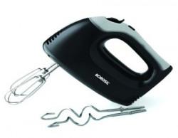 Borosil Smartmix 300 Watt Motor Hand Mixer With 2 Hooks and 2 Beaters Black