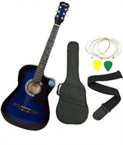 Jixing JXNG 6 Strings Acoustic Guitars With Combo Blue