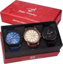 Britex BT6077~3104~6080 Diwali Combo Analog Watch - For Men