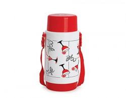 Cello Sensation Belt Flask 1 Litre White BFSENSAWhite Red1000 ml