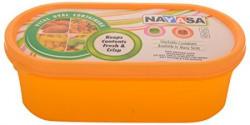Nayasa Vital Oval Plastic Container 3Pieces Orange