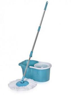 Gala Aqua Spin 151617 Mop Aqua Blue and White 4Pieces
