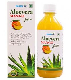 Healthvit 100 Natural Aloevera Mango Juice  500 ml