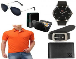 lime offers combo of men's t shirts sunglasses watch wallet belt and cardholder (40)