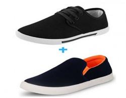 Leewon Men's Canvas Sneakers (COMBO_COMFORT_BLACK_LOFFER_7__Comfort Black_7)