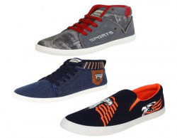 Super Men Canvas Combo Pack of 3 Casual Shoes (Sneakers) (10 uk)