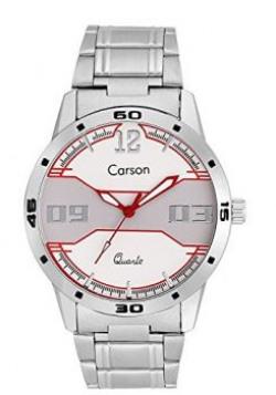 Carson Men's White Analog Wrist Watch:-cr-4303