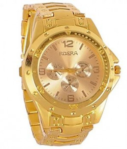 Rosra Analogue Gold Dial Men's Watch - 708604357673