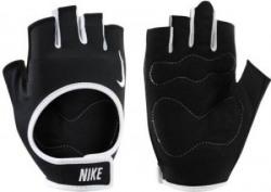 Nike NIKE WOMEN'S FIT TRAINING GLOVES Gym & Fitness Gloves (L, BLACK/WHITE/WHITE)