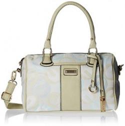 Gussaci Italy Women's  Handbag (Beige) (GC602)