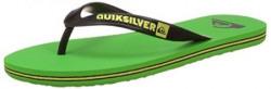 Quiksilver Men's Green Flip Flops Thong Sandals - 8 UK