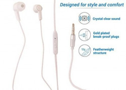 FIRETALK FT-102 Dynamic Wired With Mic Headphones,( WHITE) ...