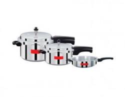 Surya Action Super Saver combo pack 5 L, 3 L, 2 L Pressure Cooker (Aluminium)