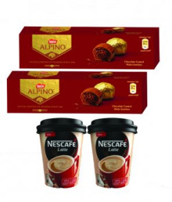 Nestle Center Filled Chocolate Alpino 22 Gm Pack Of 2