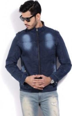 Fort Collins Full Sleeve Solid Men's Denim Jacket