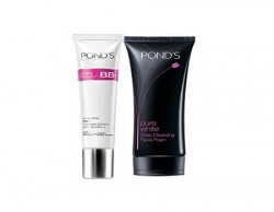POND's White Beauty BB + Ponds Pure White Deep Cleansing Facial Foam, 100g