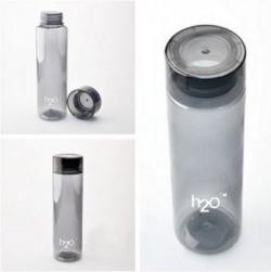 h2o 1000 ml Black water bottle unbreakable For Refrigerator / Home / Office Desk By Celebration